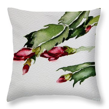 Merry Christmas Cactus 2013 Throw Pillow