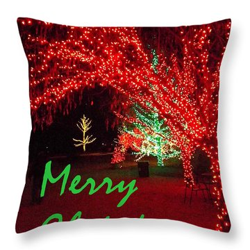 Merry Christmas Throw Pillow by Darren Robinson