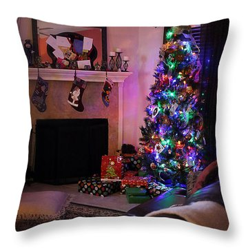 Throw Pillow featuring the photograph Merry Christmas From My Home To Yours by Trish Mistric