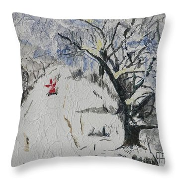 Merry Christmas  Throw Pillow by Geeta Biswas