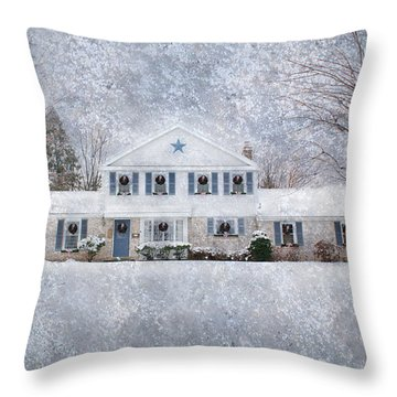 Wintry Holiday Throw Pillow