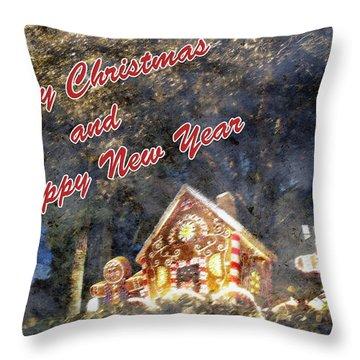 Merry Christmas Throw Pillow by Skip Nall
