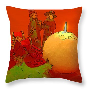 Merry Christmas Throw Pillow by Teresa Zieba