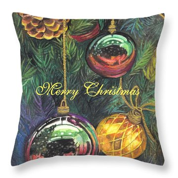 Merry Christmas Wishes Throw Pillow