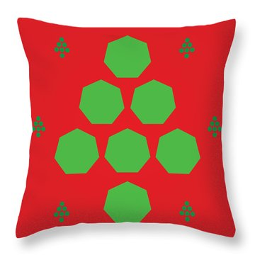 Throw Pillow featuring the digital art Merry Clickmas by Kevin McLaughlin