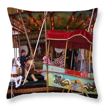 Merry Go Round Throw Pillow by Dany Lison
