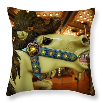 Throw Pillow featuring the photograph Merry Go Round by Sami Martin