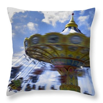Merry Go Round Swings Throw Pillow
