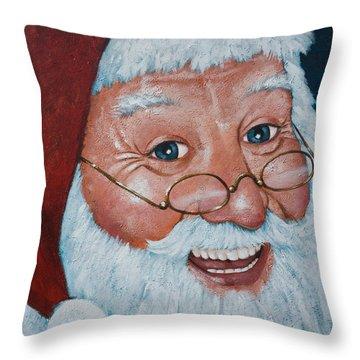 Merry Santa Throw Pillow