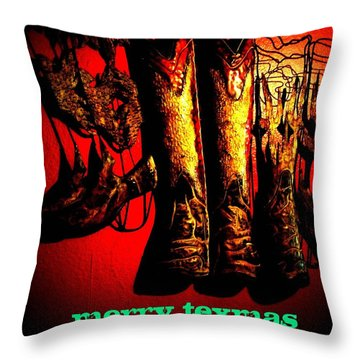Merry Texmas Throw Pillow
