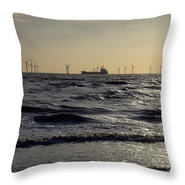 Mersey Tanker Throw Pillow