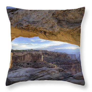 Mesa Arch Canyonlands Throw Pillow