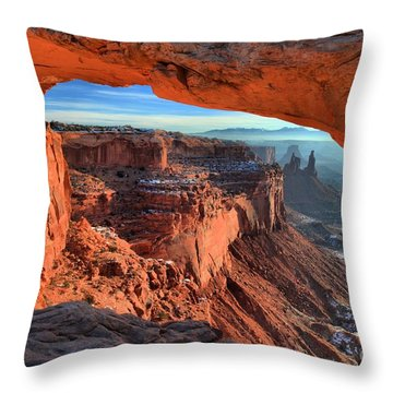 Mesa Arch Frame Throw Pillow