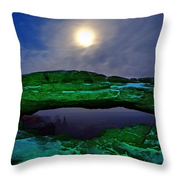 Throw Pillow featuring the photograph Mesa Arch In Green by David Andersen