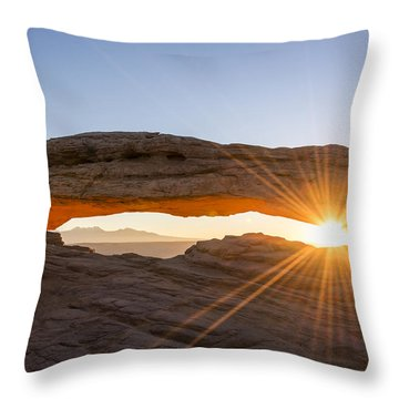 Mesa Arch Sunrise 7 - Canyonlands National Park - Moab Utah Throw Pillow by Brian Harig