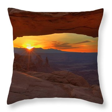 Mesa Arch Sunrise Throw Pillow by Alan Vance Ley