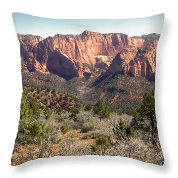 Mesa In Kolob Throw Pillow by Robert Bales