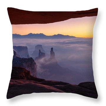 Mesa Mist Throw Pillow