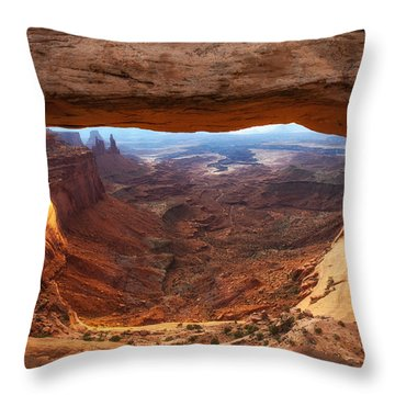 Mesa Sunrise Window Throw Pillow by Darren  White