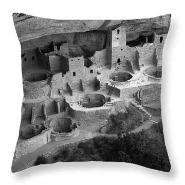 Mesa Verde Monochrome Throw Pillow by Bob Christopher
