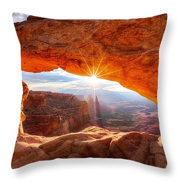 Mesa's Sunrise Throw Pillow
