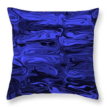 Mesmerizing Deep Blue Throw Pillow by Carol Groenen