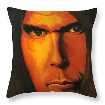 Mesmerizing Eyes   Niel Young Throw Pillow
