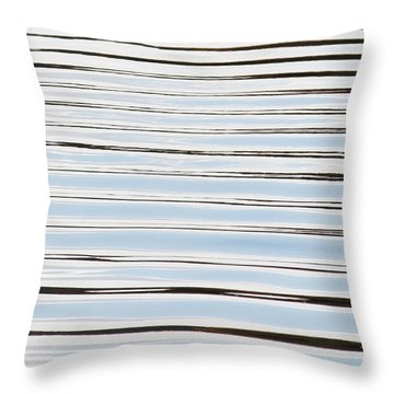 Throw Pillow featuring the photograph Mesmerizing Waves by Anita Oakley