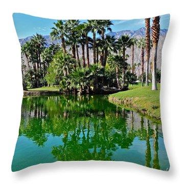 Mesquite Country Club Lake Throw Pillow