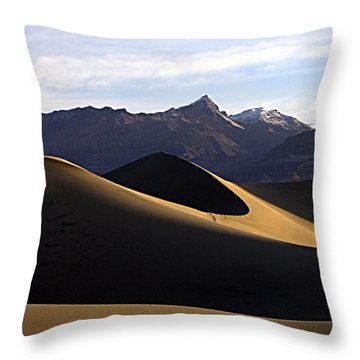 Throw Pillow featuring the photograph Mesquite Dunes At Dawn by Joe Schofield