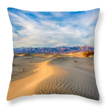 Mesquite Dunes Throw Pillow
