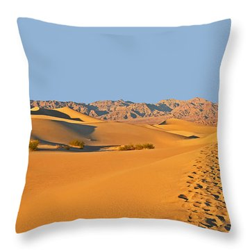 Throw Pillow featuring the photograph Mesquite Flat Sand Dunes - Death Valley by Dana Sohr