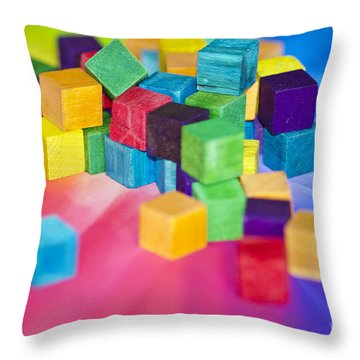 Mess Of Colour Throw Pillow