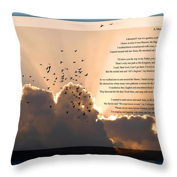 Message From Heaven Throw Pillow