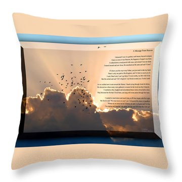 Throw Pillow featuring the photograph Message From Heaven by Carolyn Marshall