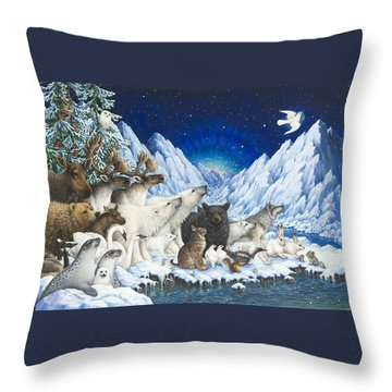 Message Of Peace Throw Pillow