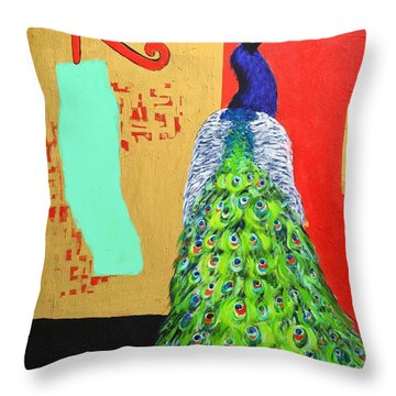 Throw Pillow featuring the painting Messages by Ana Maria Edulescu