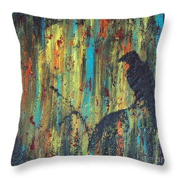 Messenger Throw Pillow by Jacqueline McReynolds