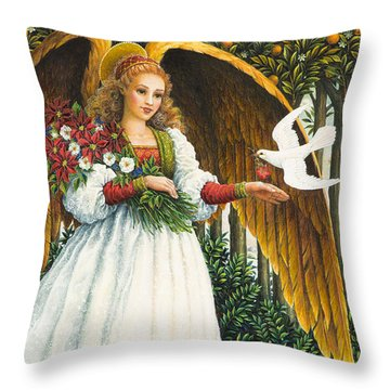 Messengers Of Peace Throw Pillow