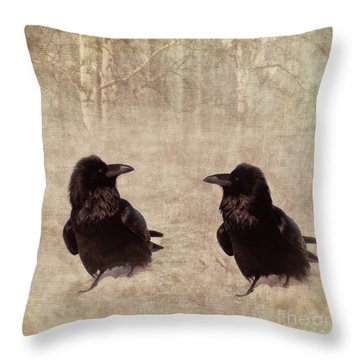 Messenger Throw Pillow by Priska Wettstein