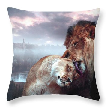 Yeshua Loves Israel Throw Pillow