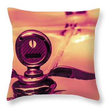 Throw Pillow featuring the digital art Messko Thermometer by Bartz Johnson