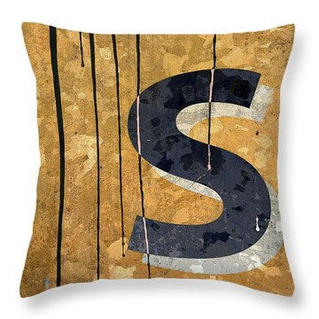 Messy S Throw Pillow by Carol Leigh