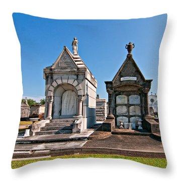 Metairie Cemetery 4 Throw Pillow by Steve Harrington