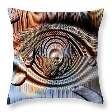 Throw Pillow featuring the digital art Metal Colors By Nico Bielow by Nico Bielow