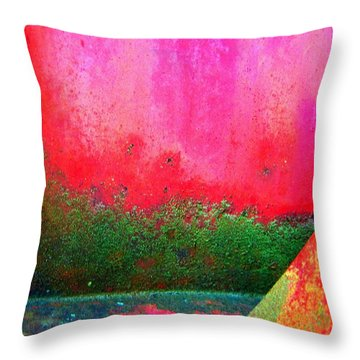 Metal Composition Throw Pillow by Shirley Sirois