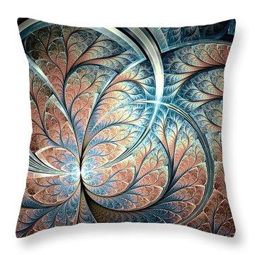 Metal Forest Throw Pillow by Anastasiya Malakhova