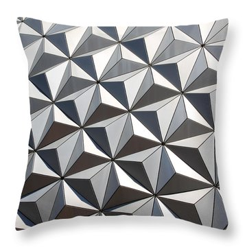 Metal Geode Throw Pillow by Chris Thomas