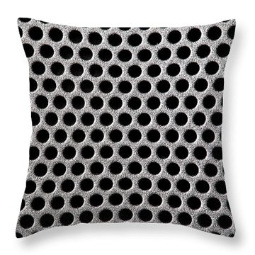 Metal Grill Dot Pattern Throw Pillow by Simon Bratt Photography LRPS
