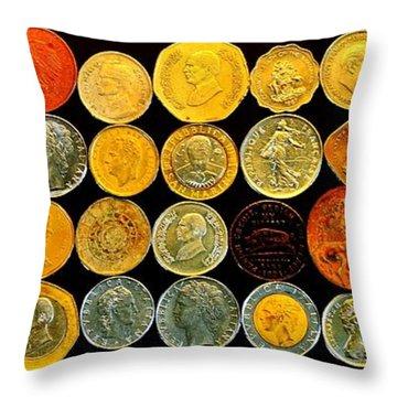 Metal Profiles Throw Pillow by Benjamin Yeager